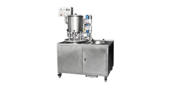 6 Flask capacity vacuum mixer  with vacuum pump inside