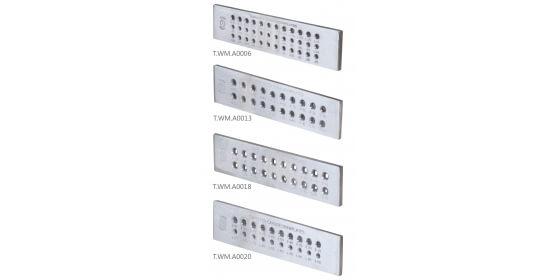 Drawingplates - Semicircular drawplates (0.55 - 3 mm)