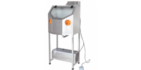 Investment powder cleaning machine with flat water pump