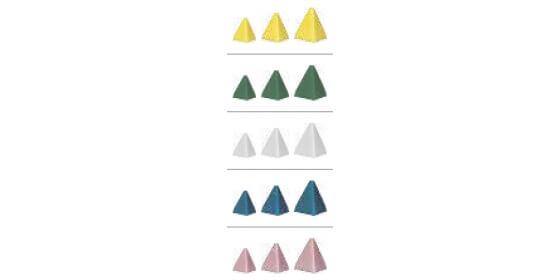 Plastic abrasive stone- pyramid blue