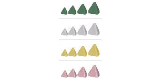 Plastic abrasive stone-tetrahedron green